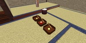 縁高と和菓子のプロトタイプ