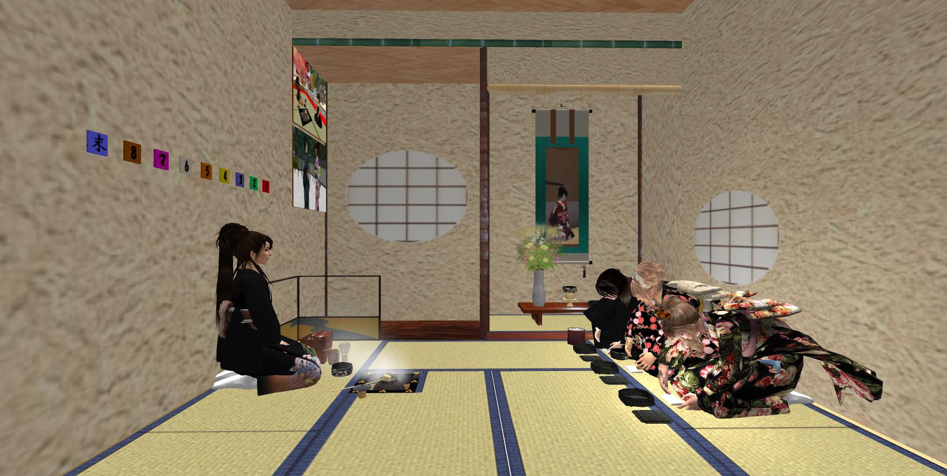 和菓子を懐紙に乗せる所作